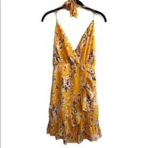 NWT ASOS Parisian yellow floral ruffle sundress